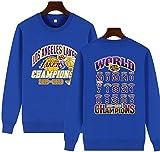 2020 Lakers campeones suéter Manga Larga, Uniformes basketaball, Camisetas de Entrenamiento, Transpirable, Ropa Deportiva y de Ocio, Regalos for los Aficionados (Color : Blue, Size : Large)
