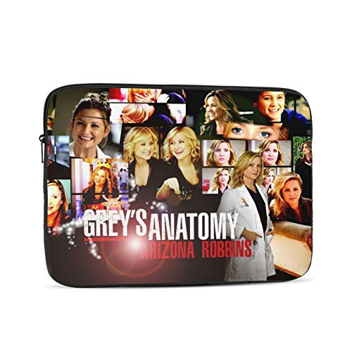 Greys Anatomy Laptop Sleeve Case Protective Soft Padded Zipper Cover Carrying Computer Bag Laptop Sleeve Bag Water Repellent Vertical Protective Case 17 inch