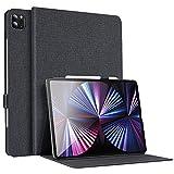 ESR Folio Hülle kompatibel mit iPad Pro 11 2021 (3. Generation) im Buch Cover Design mit anpassbarem Ständer & Schlaf Weck Funktion, Holzkohle