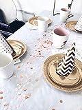 Konfetti rosegold mehrfarbig, 1cm rund, 10g, 1000 Stück – elegante und moderne Partydeko – Geburtstag, Hochzeit, Baby-shower, Silvester - 4