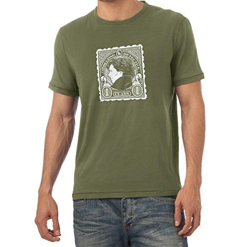 Texlab Herren Sherlock Consulting Detective T-Shirt, Oliv, XXL