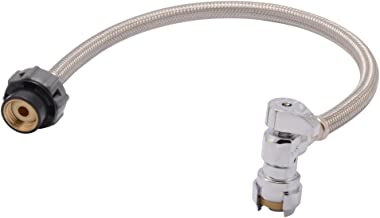 SharkBite 24657A Faucet Connector Hose, 1/2 inch x 1/2 inch x 20 inch NPSM, Braided Stainless Steel, Water Valve Shut Off, Push-to-Connect, PEX, Copper, CPVC, PE-RT