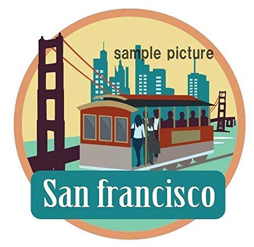 海外旅行観光地ステッカー サンフランシスコ アメリカ 防水紙シール スーツケース・タブレットPC・スケボー・マイカーのドレスアップ・カスタマイズに