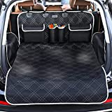 Pet Cargo Cover Liner for SUV and Car,Non Slip,Waterproof Dog Seat Cover Mat for Back Seat Trucks/SUV with Bumper Flap Protector,Large Size Universal Fit