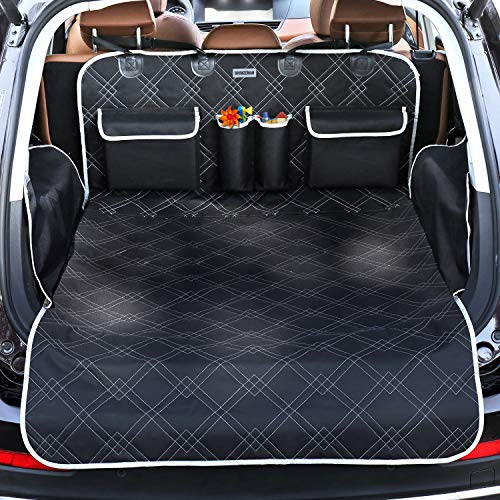 BRONZEMAN Pet Cargo Cover Liner for SUV and Car,Non Slip,Waterproof Dog Seat Cover Mat for Back Seat Trucks/SUV with Bumper Flap Protector,Large Size Universal Fit