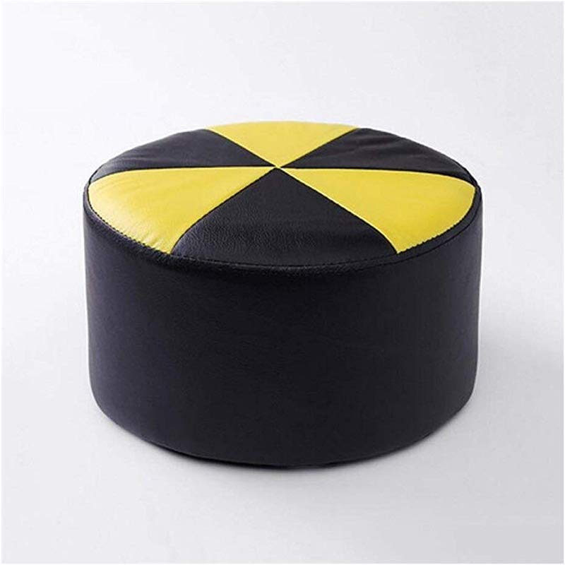 Carl Artbay Wooden Footstool Black And Yellow Stool Children S Leather Stool Home Changing His Shoes Stool Home