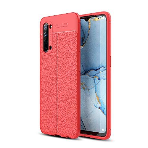 NOKOER Cover per Oppo Reno 3 Find X2 Lite, Silicone TPU Slim Phone Case [Dissipazione del Calore] [Anti Impronta Digitale] Antiurto Cover per Oppo Reno 3 Find X2 Lite Smartphone - Rosso