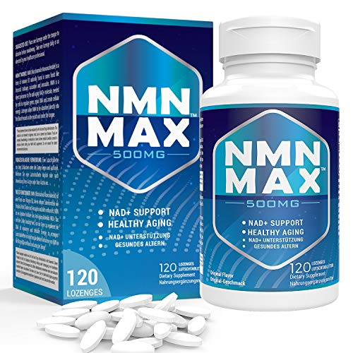 Sublingual NMN 500mg x 120 Tablets - Fast-Acting Nicotinamide Mononucleotide Lozenges - NAD+ Booster Supplements - Potent Anti-Aging Supplement - by NMN MAX