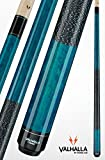 VIKING Valhalla 2 Piece Pool Cue Stick with Irish Linen Wrap VA113 (19oz, Blue)