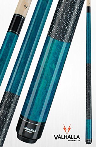 Valhalla by Viking 2 Piece Pool Cue Stick With Irish Linen Wrap VA113 (19oz, Blue)