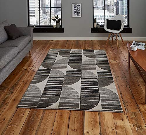 Think Rugs Heatset Teppich, Polypropylen, 80 x 150 cm, Grau