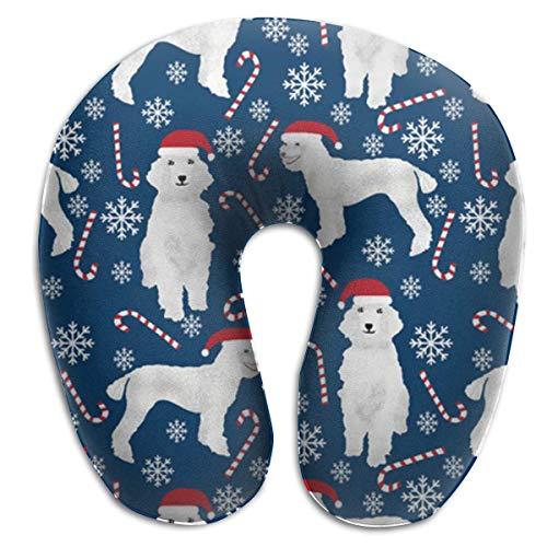 U-vormig nekkussentje, Kerstspoel U-vormig kussen, zacht comfortabel U-vormig kussen om te slapen in trechter.