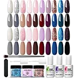 ❤What in the kit: 20 Popular hit colors, 3 dip liquid with great nail tools, the MODELONES dip powder nail system gives you a more varied nail art experience, creating your own unique nail art. No lamp needed dip kit can not only save much your time ...
