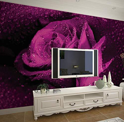 Large 3D Wallpaper mural wall entrance hallway bedroom living room TV Purple Rose Custom sizes,wall paper,300 * 210cm