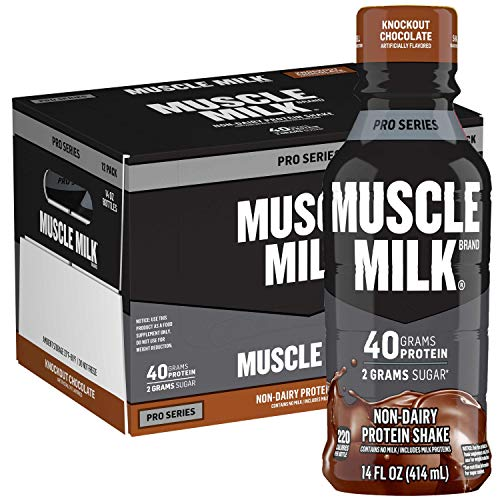Muscle Milk Pro Series Protein Shake,  Knockout Chocolate, 32g Protein, 14 Fl Oz, 12 Pack
