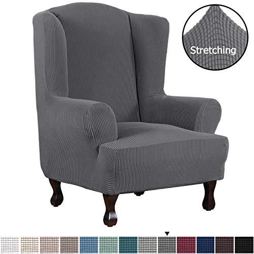 H.VERSAILTEX 1 Piece Super Stretch Stylish Furniture Cover/Wingback Chair Cover...