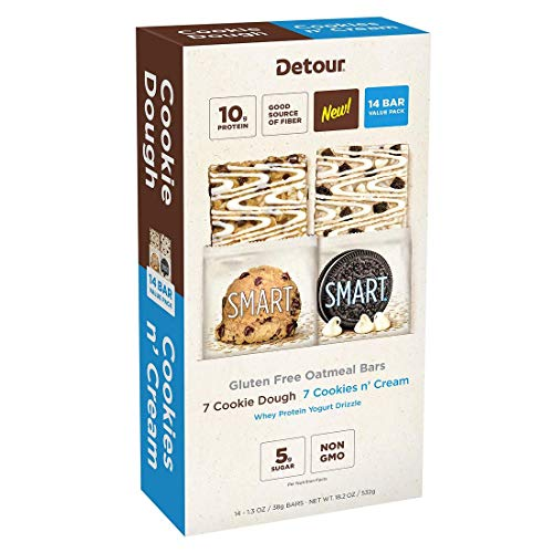 Detour Smart Gluten-Free Variety 7ct Cookie Dough & 7ct Cookie N' Cream 14ct total 1.3oz each