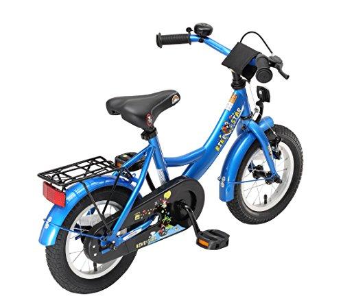 BIKESTAR Kinderfahrrad für Mädchen und Jungen ab 3-4 Jahre | 12 Zoll Kinderrad Classic | Fahrrad für Kinder Blau - 3