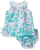 Lilly Pulitzer Girls Baby Lilly Shift, Bright Agate Green Colorful Camelflage, 1218