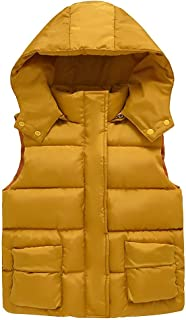 yingyingni Toddler Baby Girls Sleeveless Gilets Hooded Dinosaur Warm Waistcoat Outwear Unisex Vest Jacket