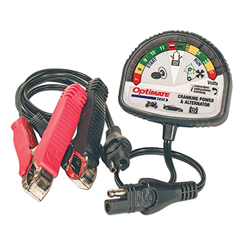 OptiMATE TEST – Cranking & Alternator, TS-121, 12V tester for battery state of charge, cranking...