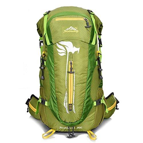 Professionnels randonnée à dos de sport en plein air Sacs 50L Hommes Camping Waterproof Trekking épaules Sacs à dos , green