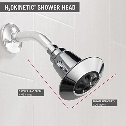 Delta Faucet 2-Spray H2Okinetic Shower Head, Chrome 75152