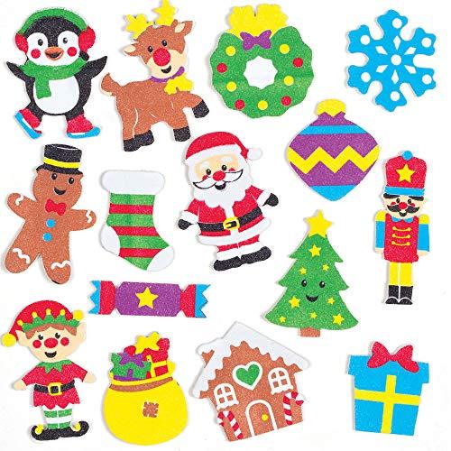 Baker Ross Mosrubber stickers voor Kerstmis (120 stuks) feestelijk knutselen voor het hele gezin
