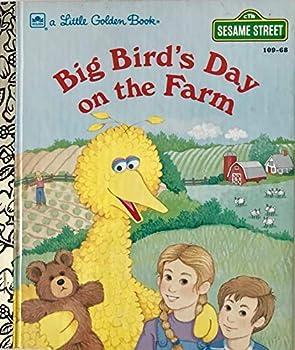 Hardcover Big Bird's Day on the Farm (Sesame Street) (A Little Golden Book) Book