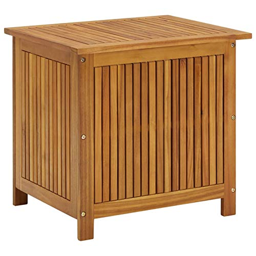 Irfora Garten-Aufbewahrungsbox Gartenbox Große Aufbewahrungsfach Bank Gartentruhe Auflagenbox 60x50x106 cm Massivholz Akazie