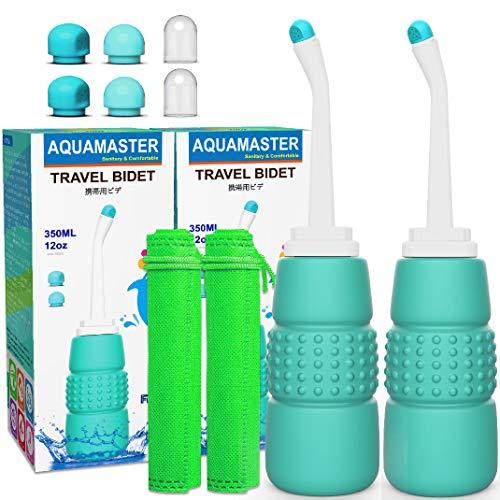 2PCS Travel Bidet Portable - Peri Bottle - 12oz 350ml Portable Bidet for Toilet or Postpartum...