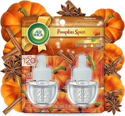 Air Wick Plug-in Scented Oil 2 Refills, Pumpkin Spice