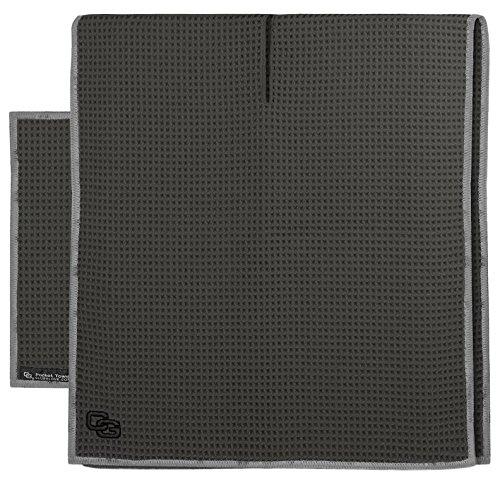Club Glove Golf Microfiber Caddy and Pocket Towel Set (Slate)
