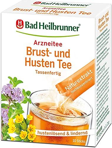 Bad Heilbrunner Brust-Husten Tee im Stick, Tassenfertig, 3er Pack (3 x 10 Sticks)