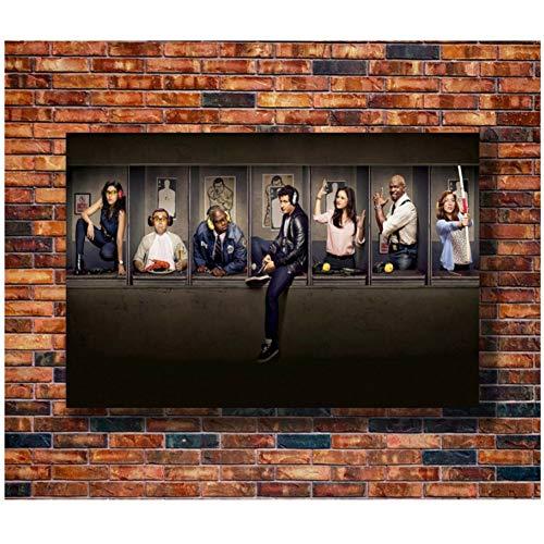 Lanruru Brooklyn Nine-Nine Serie TV Commedia Azione Stagione Spettacolo Regalo Caldo Art Poster Pittura su Tela Home Decor -60X80 Cm Senza Cornice