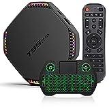 Android TV Box 11.0 8GB RAM 64GB ROM, T95 Plus Smart TV Box 2021, RK3566 4-Core 64bit Cortex-A53 CPU, Support 4K 8K Output Bluetooth 4.0 5G WI-FI 1000M USB 3.0 with 2.4GHz Mini Wireless Keyboard