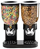 Dry Food and Cereal Dispenser, Double Food Storage with airtight Dual Control Container and Organizer, Large Capacity-7 Liter