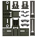Upgraded 10 Pcs Polymer Material W10350376 Dishwasher Top Rack Adjuster, W10195840, W10195839, W10508950,W10082853 Dishwashers adjuster kit fits Replacement for Whirlpool Kenmore Dishwashers