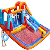 MEIOUKA Kids Inflatable Bounce House Castle with Blower Water Slide Pool Ball Pit Climbing...