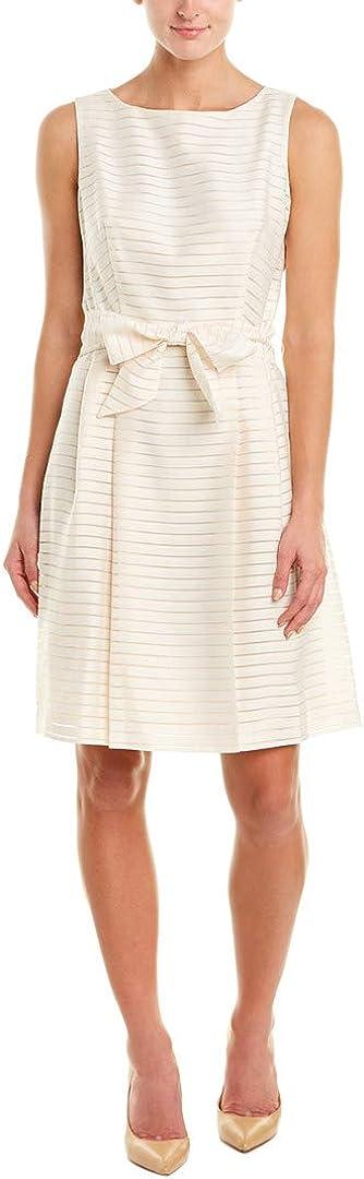 Anne Klein Women's Shadow Stripe Fit & Flare Dress
