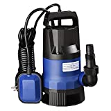 Yescom 1HP 3434GPH 750W Submersible Dirty Clean Water Pump Swimming Pool Pond Flood Drain Heavy Duty Water Transfer
