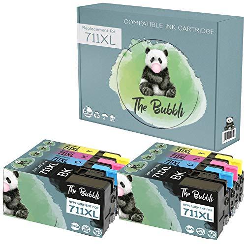 The Bubbli Original | 711XL Cartucho de Tinta Compatible para HP DesignJet T120 T520 (8-Pack)