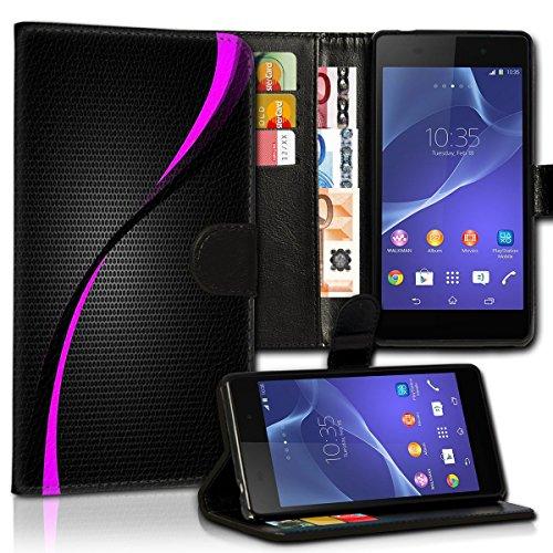 wicostar Wallet Book Style Flip Handy Tasche Hülle Schutz Hülle Schale Motiv Etui für LG L Bello - Design Flip MVD286