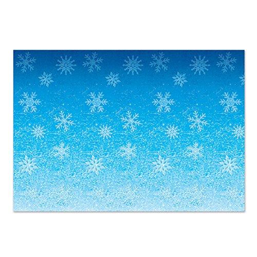 Beistle Snowflakes Backdrop, 4' x 30', Blue/White