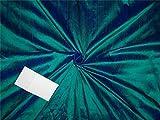 100 % reine Seide, Dupioni-Stoff, 137,2 cm, Grün x Violett