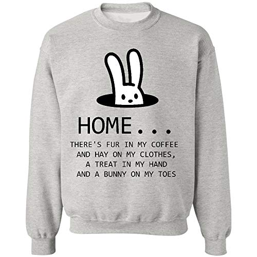 AZSTEEL Home Theres Fur in My Coffee and Heno On My Clothes Sudadera, regalos