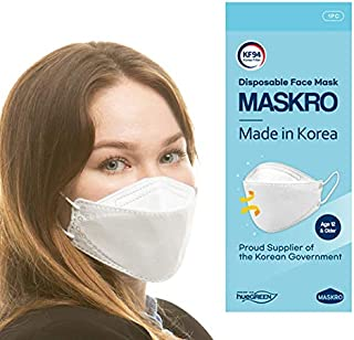 [MASKRO,hueGREEN] - KF94 FACE MASK ; Premium 4Layer Filters Safety Mask for Protection from Fine Dust and Respiratory Dise...