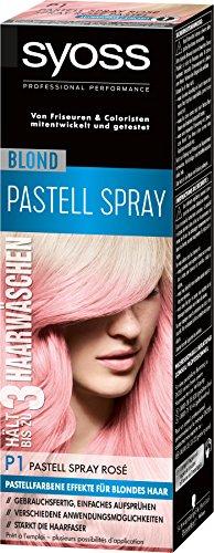 Syoss Blond P1 Pastell Spray Rosé Stufe 3, 3er Pack (3 x 125 ml)