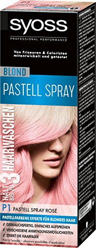 Syoss Blond P1 Pastell Spray Rosé Stufe 3, 3er Pack (3 x 125 ml)