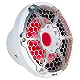 """DS18 NXL-12SUB/WH Marine e Motorsports 12"""" Subwoofer – 700W Max, 350W RMS, 4 OHMS, RGB Led Lights, Waterproof (1 Speaker)"""